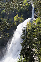 Europe, Italy, South Tyrol, Trentino-Alto Adige, Eisack Valley, waterfall, giant, big, powerful, mighty, puissant, voluminous, massive