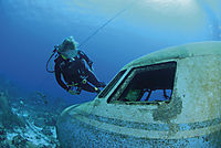 America, Curacao, Netherlands Antilles, All West Curacao, Westpunt, Airplane wreck