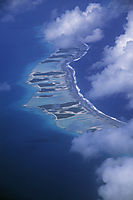 Oceania, French Polynesia, Society Islands, South Sea Islands, South Pacific, aerial image, string of islands, island world, chain
