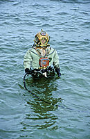 Europe, Germany, Baden-Wuerttemberg, freshwater, fresh water, coldwater, standard diving dress, diving suit, tec, tecdiving, hardhat diver