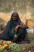 Asia, India, vegetable market, old women, beautiful face