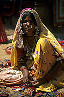 Asia, India, hippie market place Anjuna, indian women
