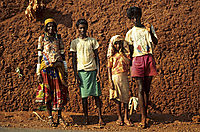 Asia, India, indian streetworker, indian family