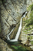 Europe, Slovenia, Alps, karst, julian alps, waterfall, savica wellspring, fountain