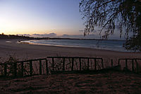 Africa; Mozambique; Tofo Beach, Inhanbane, indic ocean, sunset at the beach